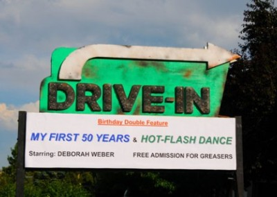 Grease Themed Party Drive-In Sign