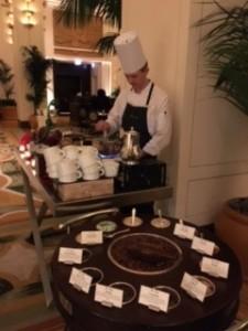 Pastry Chef Dimitri Fayard - The Peninsula Chicago, making my hot chocolate