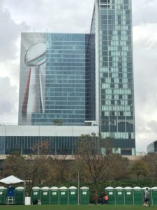 Super Bowl LI Houston view at Discovery Green