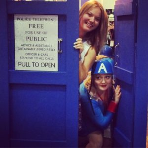 Denver Comic Con, TARDIS, Doctor Who, Sisters