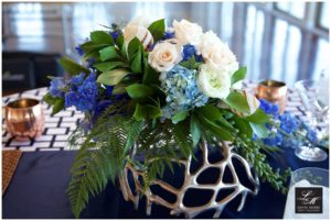 Nautical Themed Wedding Flower Arrangement