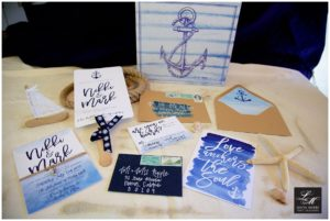 Nautical Themed Wedding Invitations Calligraphy